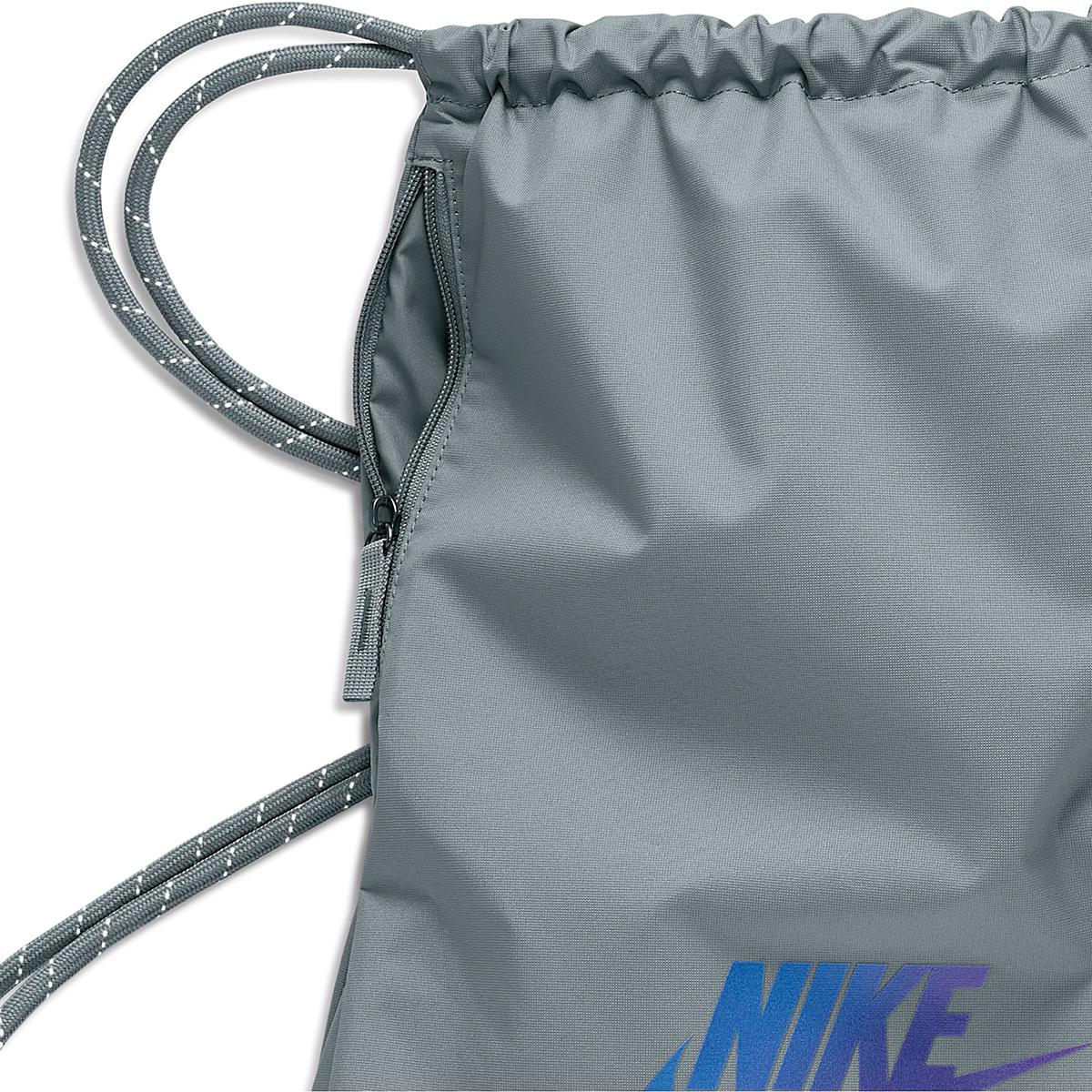 Nike Heritage Gym Sack - 2.0 - Color: Smoke Grey/Iridescent, Smoke Grey/Iridescent, large, image 3