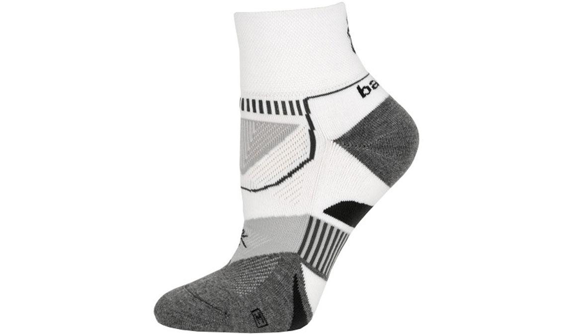 Balega Enduro V-Tech Quarter Socks - Color: White/Grey Heather - Size: S, White/Grey, large, image 1