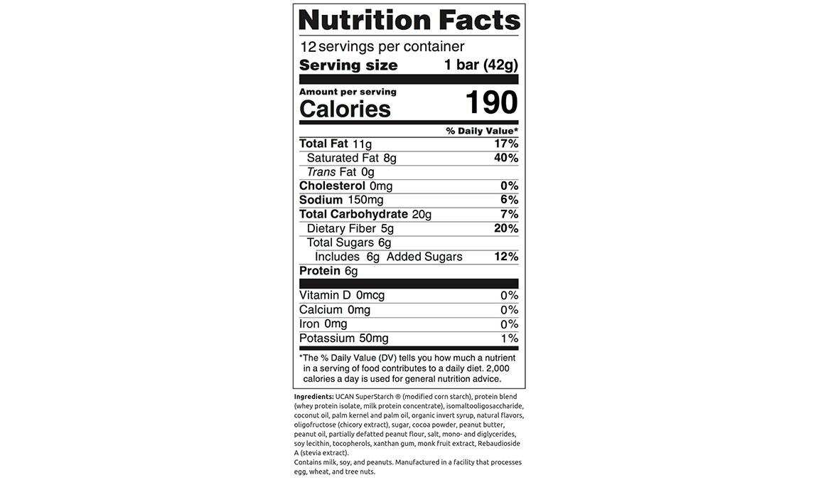 UCAN Energy Bars - Chocolate Peanut Butter - 12 Pack, Chocolate Peanut Butter, large, image 4