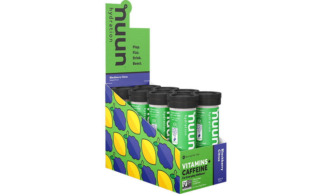 Nuun Vitamins Drink Tablets - Flavor: Blackberry Citrus + Caffeine - Size: Box of 8, Blackberry Citrus + Caffeine, large, image 1