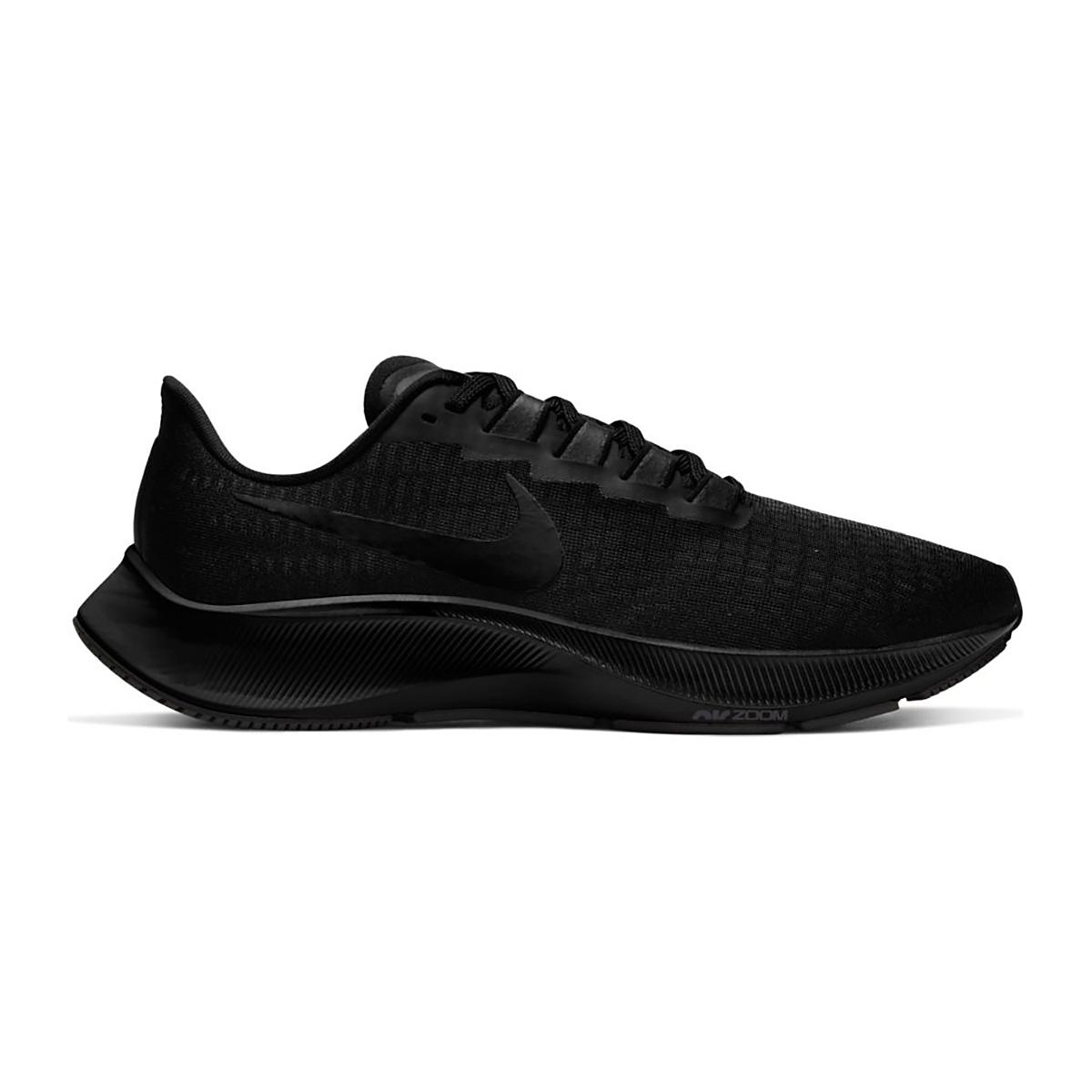 Men's Nike Nike Air Zoom Pegasus 37 Running Shoe - Color: Black/Black/Smoke Grey - Size: 6.5 - Width: Regular, Black/Black/Smoke Grey, large, image 1