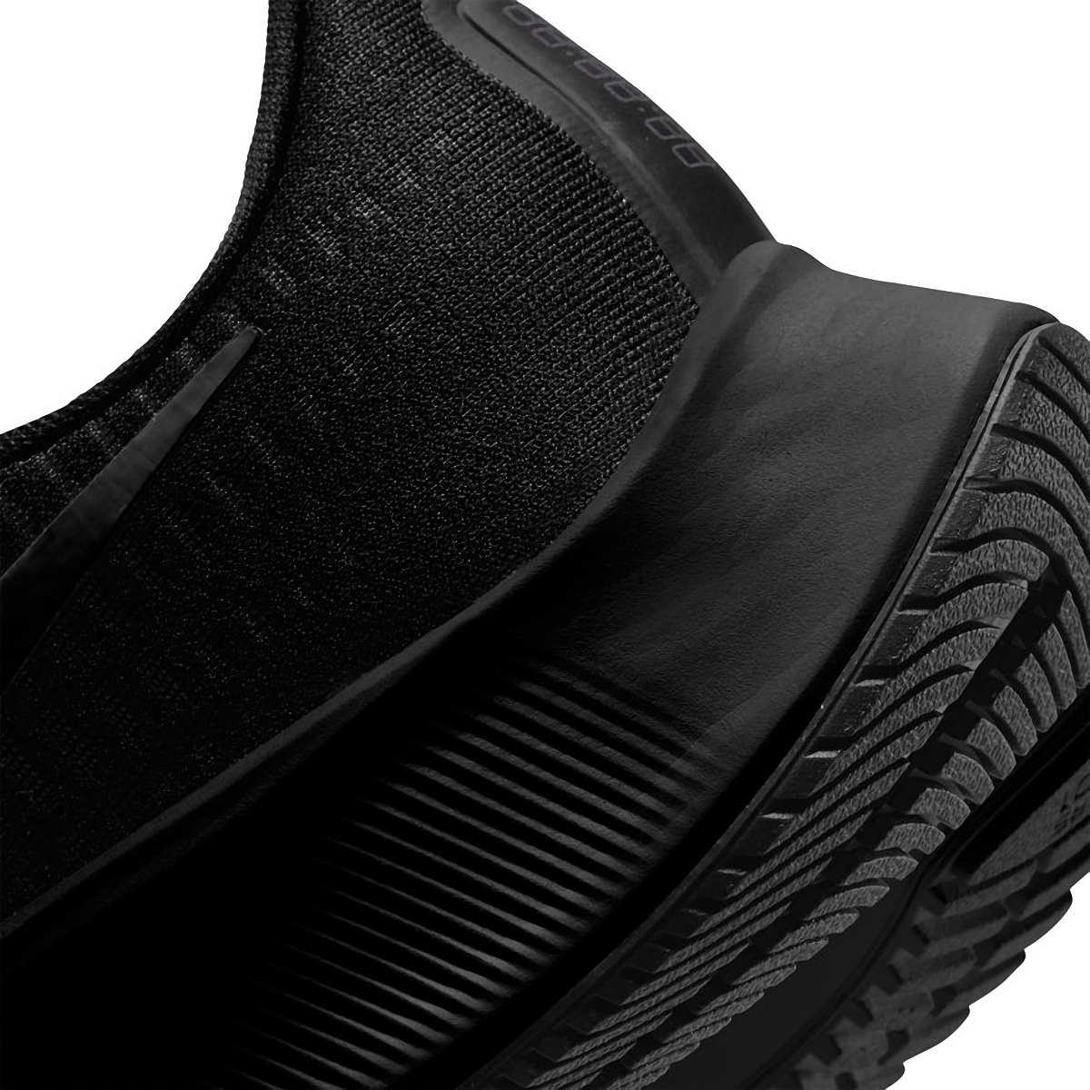 Men's Nike Nike Air Zoom Pegasus 37 Running Shoe - Color: Black/Black/Smoke Grey - Size: 6.5 - Width: Regular, Black/Black/Smoke Grey, large, image 4