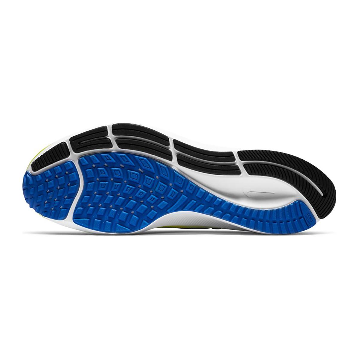 Men's Nike Air Zoom Pegasus 37 Running Shoe - Color: White/Racer Blue/Cyber/Black - Size: 6 - Width: Regular, White/Racer Blue/Cyber/Black, large, image 3