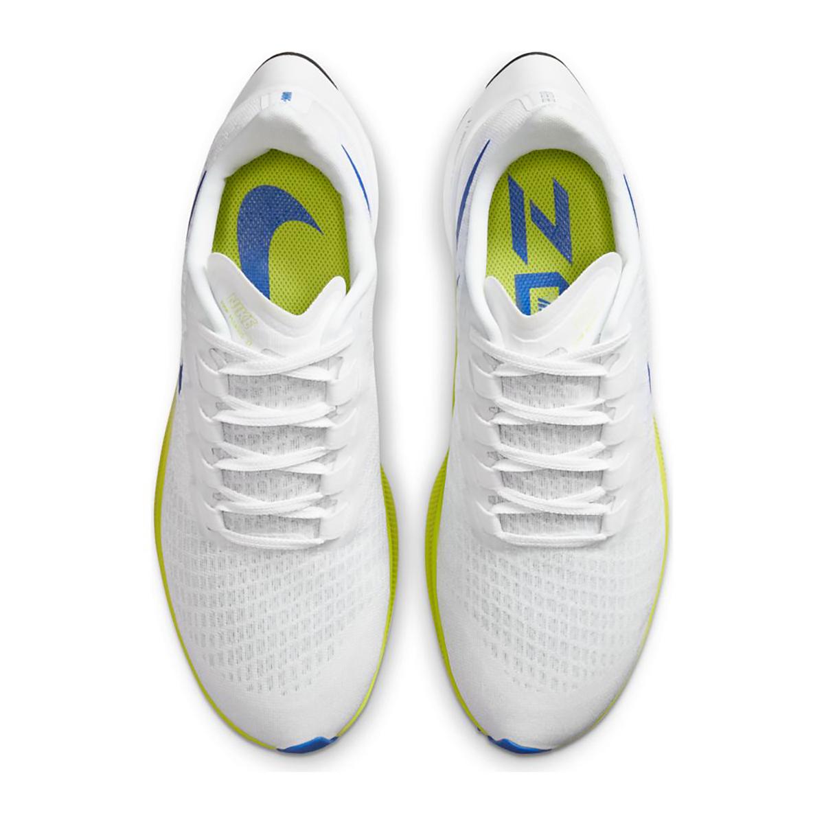 Men's Nike Air Zoom Pegasus 37 Running Shoe - Color: White/Racer Blue/Cyber/Black - Size: 6 - Width: Regular, White/Racer Blue/Cyber/Black, large, image 4
