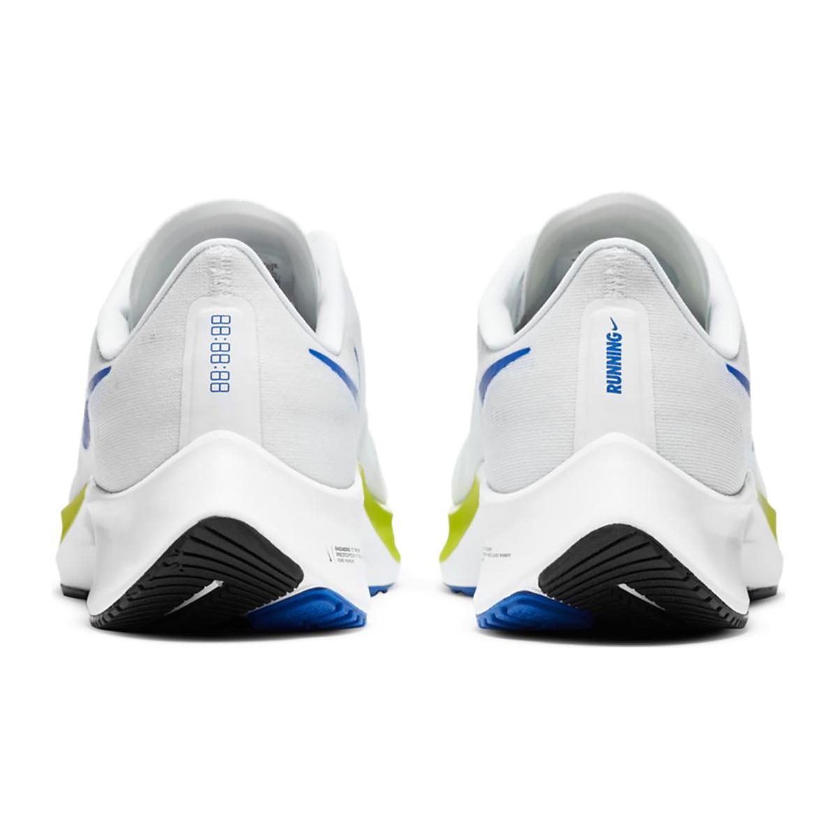 Men's Nike Air Zoom Pegasus 37 Running Shoe - Color: White/Racer Blue/Cyber/Black - Size: 6 - Width: Regular, White/Racer Blue/Cyber/Black, large, image 5
