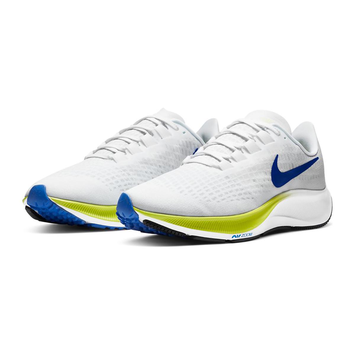 Men's Nike Air Zoom Pegasus 37 Running Shoe - Color: White/Racer Blue/Cyber/Black - Size: 6 - Width: Regular, White/Racer Blue/Cyber/Black, large, image 6