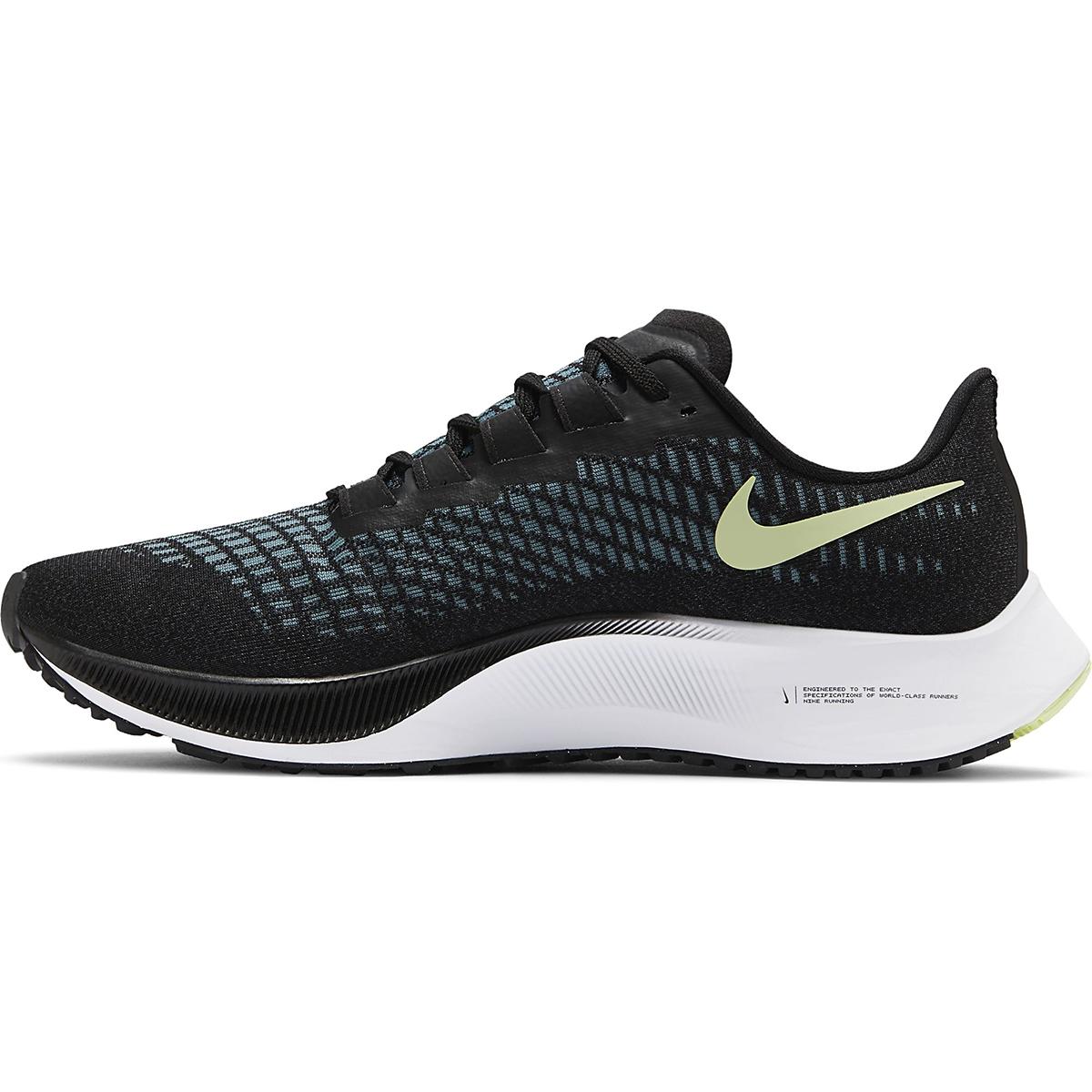 Women's Nike Air Zoom Pegasus 37 Running Shoe - Color: Black/Glacier Ice-Barely Volt-White - Size: 6 - Width: Regular, Black/Glacier Ice-Barely Volt-White, large, image 2