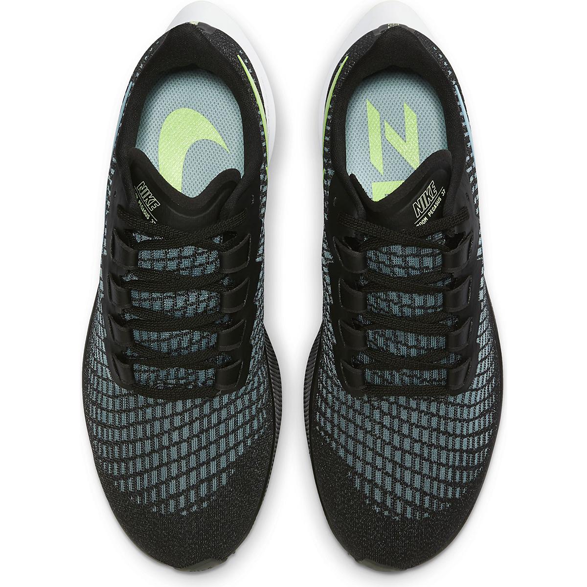 Women's Nike Air Zoom Pegasus 37 Running Shoe - Color: Black/Glacier Ice-Barely Volt-White - Size: 6 - Width: Regular, Black/Glacier Ice-Barely Volt-White, large, image 4