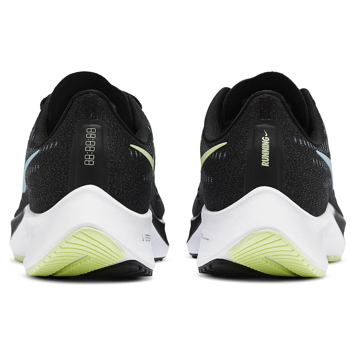Women's Nike Air Zoom Pegasus 37 Running Shoe - Color: Black/Glacier Ice-Barely Volt-White - Size: 6 - Width: Regular, Black/Glacier Ice-Barely Volt-White, large, image 5