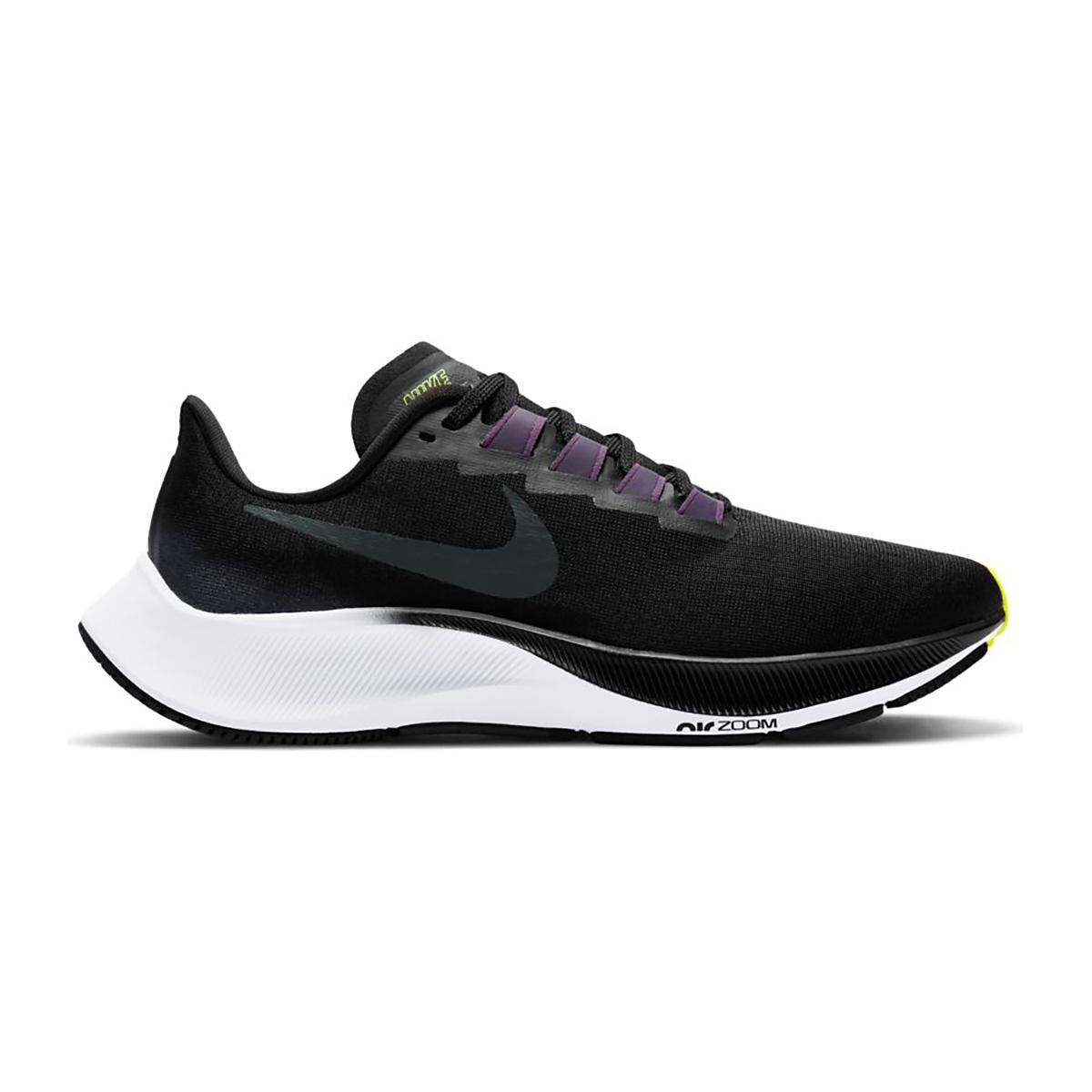 Women's Nike Nike Air Zoom Pegasus 37 Running Shoe - Color: Black/Anthracite/Dark Raisin/White - Size: 5 - Width: Regular, Black/Anthracite/Dark Raisin/White, large, image 1