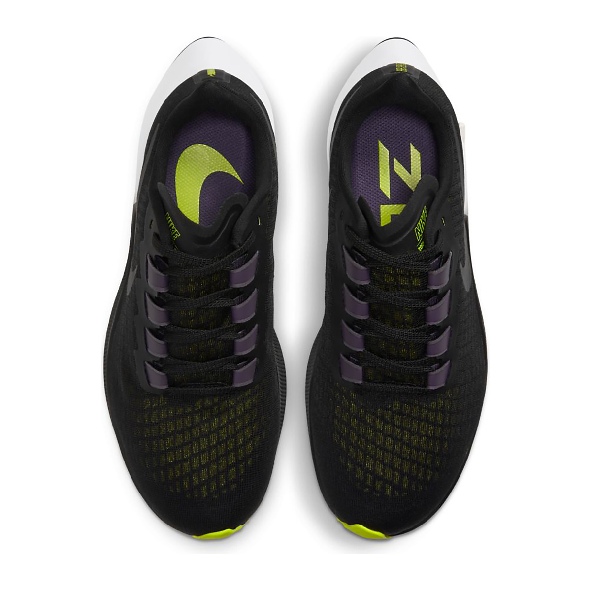 Women's Nike Air Zoom Pegasus 37 Running Shoe - Color: Black/Anthracite/Dark Raisin/White - Size: 5 - Width: Regular, Black/Anthracite/Dark Raisin/White, large, image 6