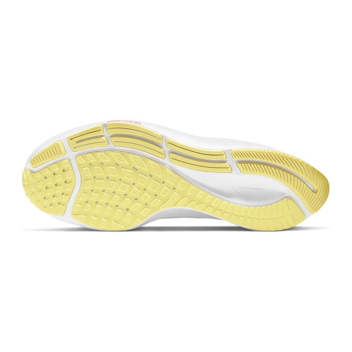 Women's Nike Air Zoom Pegasus 37 Running Shoe - Color: White/Lite Zitron/Bright Mango - Size: 5 - Width: Regular, White/Lite Zitron/Bright Mango, large, image 3