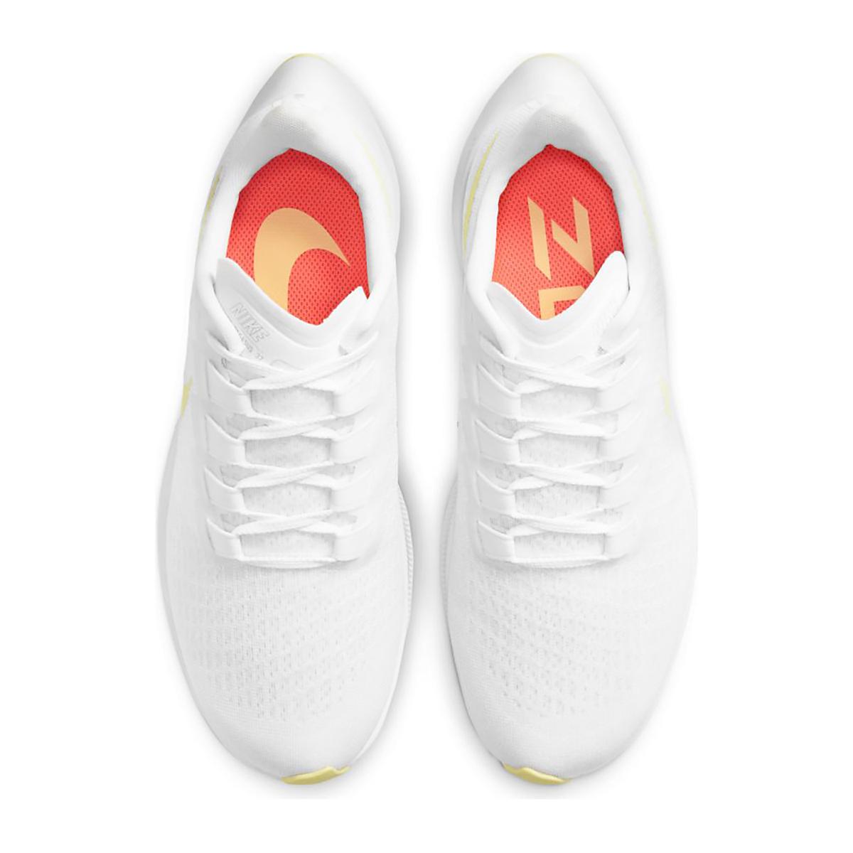 Women's Nike Air Zoom Pegasus 37 Running Shoe - Color: White/Lite Zitron/Bright Mango - Size: 5 - Width: Regular, White/Lite Zitron/Bright Mango, large, image 6