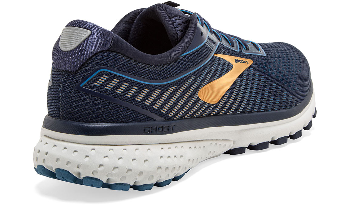 Men's Brooks Ghost 12 Running Shoe - Color: Navy/Deep Water/Gold (Regular Width) - Size: 9, Navy/Gold, large, image 2