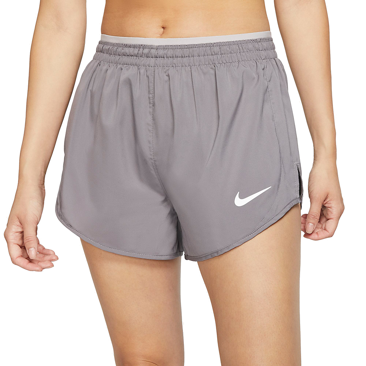 Women's Nike Tempo Luxe 3in Shorts - Color: Gunsmoke/Atmosphere Grey - Size: XS, Gunsmoke/Atmosphere Grey, large, image 1