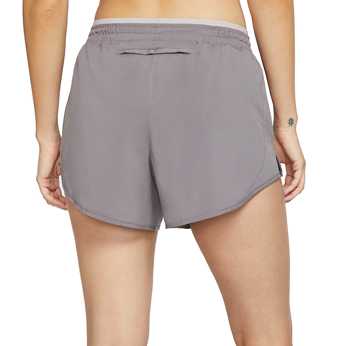 Women's Nike Tempo Luxe 3in Shorts - Color: Gunsmoke/Atmosphere Grey - Size: XS, Gunsmoke/Atmosphere Grey, large, image 2