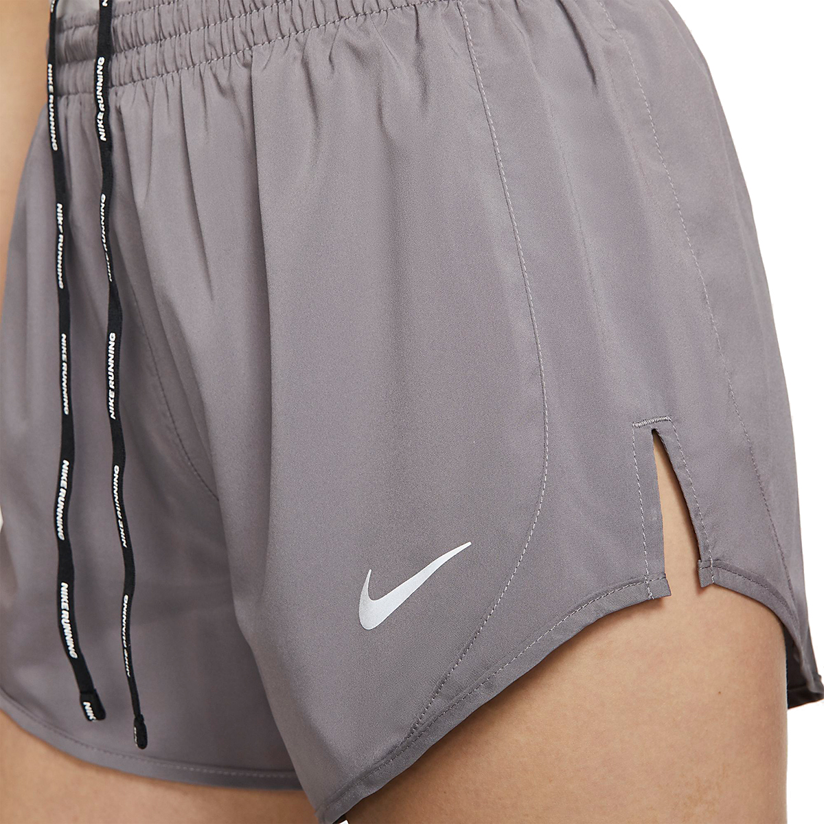 Women's Nike Tempo Luxe 3in Shorts - Color: Gunsmoke/Atmosphere Grey - Size: XS, Gunsmoke/Atmosphere Grey, large, image 3