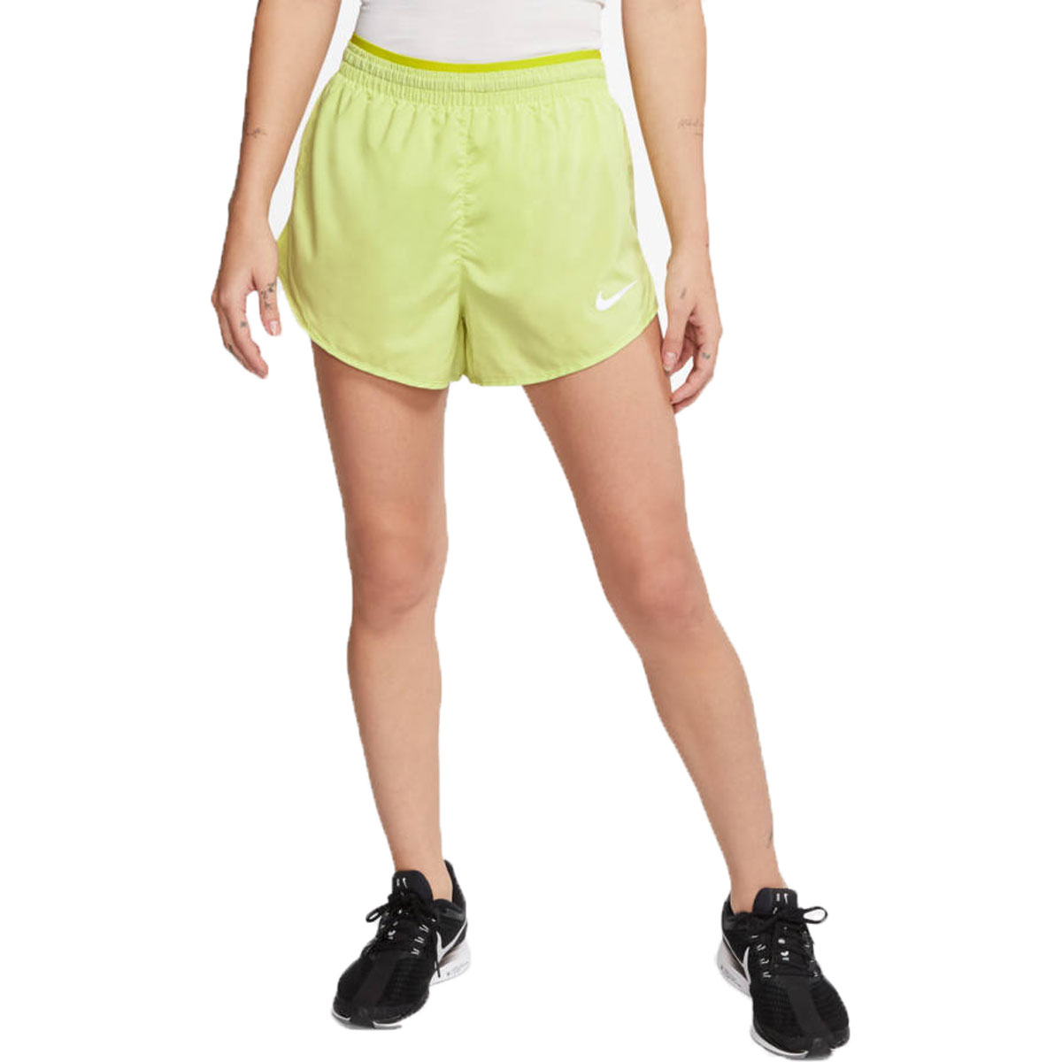 Women's Nike Tempo Luxe 3 Inch Short  - Color: Limelight - Size: S, Limelight, large, image 1
