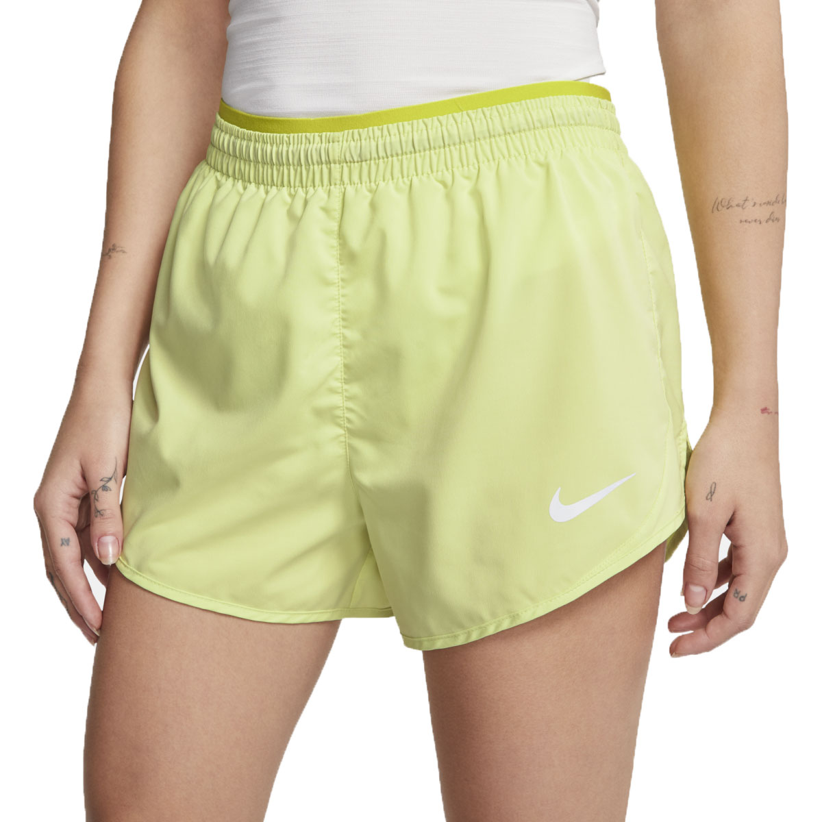 Women's Nike Tempo Luxe 3 Inch Short - Color: Limelight - Size: S, Limelight, large, image 2