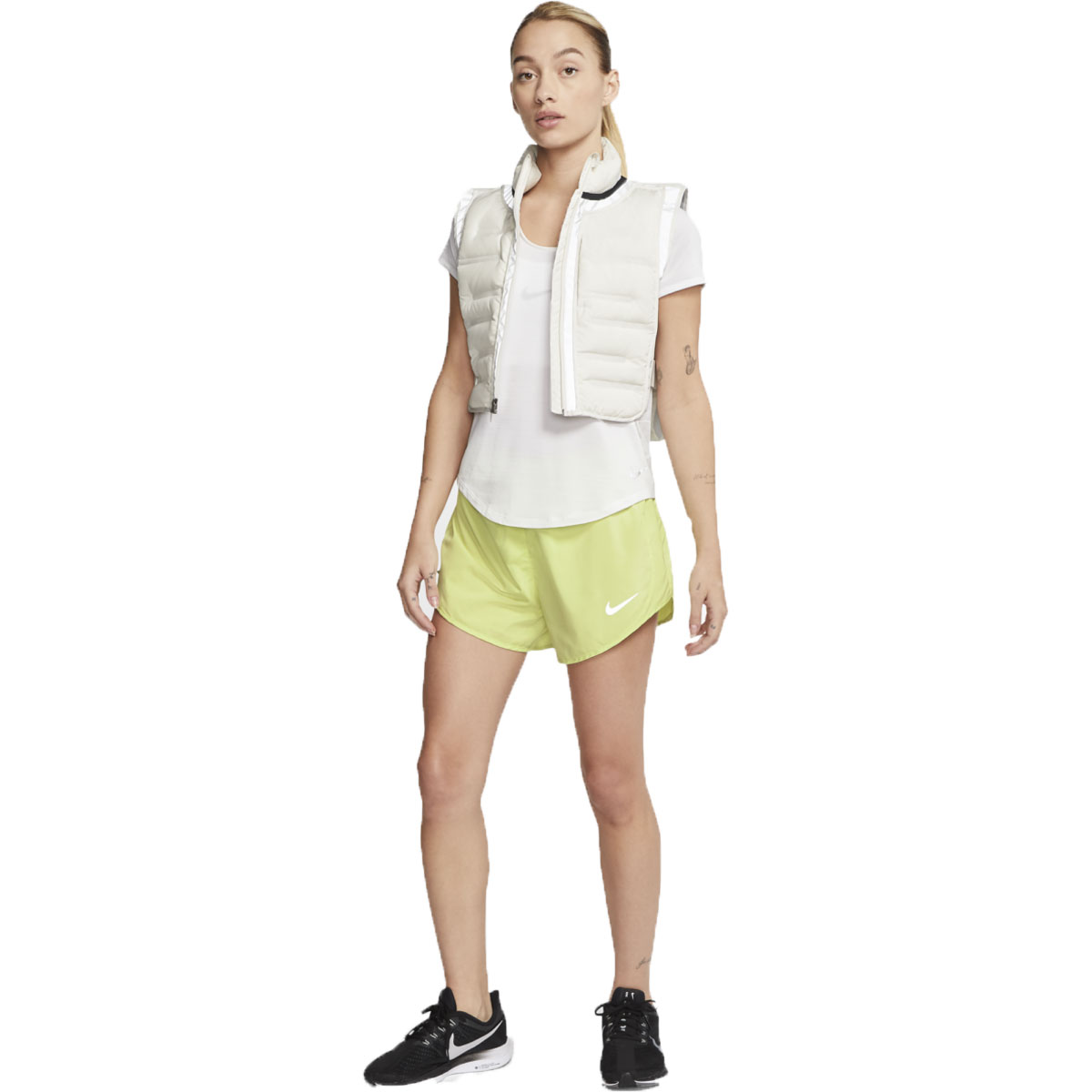 Women's Nike Tempo Luxe 3 Inch Short  - Color: Limelight - Size: S, Limelight, large, image 3