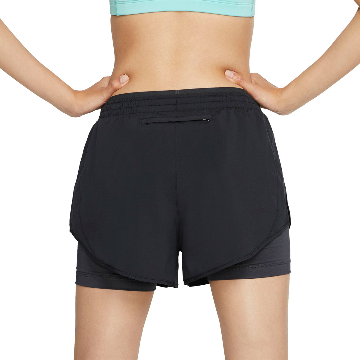 Women's Nike Tempo Luxe 2-in-1 Running Shorts - Color: Black/Anthracite/Reflective Silver - Size: L, Black/Anthracite/Reflective Silver, large, image 2