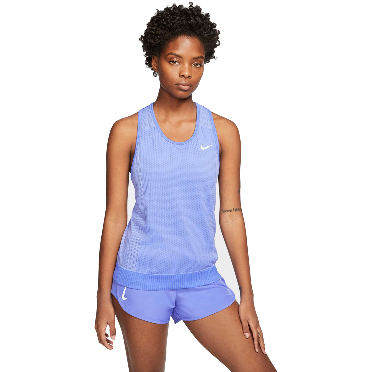 Women's Nike Infinite Running Tank - Color: Sapphire/Light Thistle/Reflective Silver - Size: XS, Sapphire/Light Thistle/Reflective Silver, large, image 1