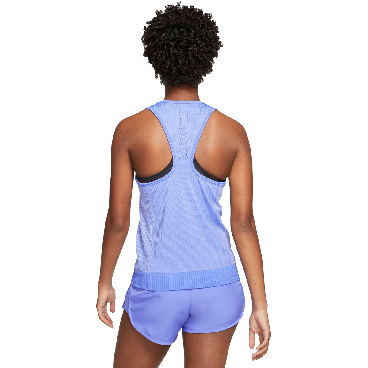 Women's Nike Infinite Running Tank - Color: Sapphire/Light Thistle/Reflective Silver - Size: XS, Sapphire/Light Thistle/Reflective Silver, large, image 2
