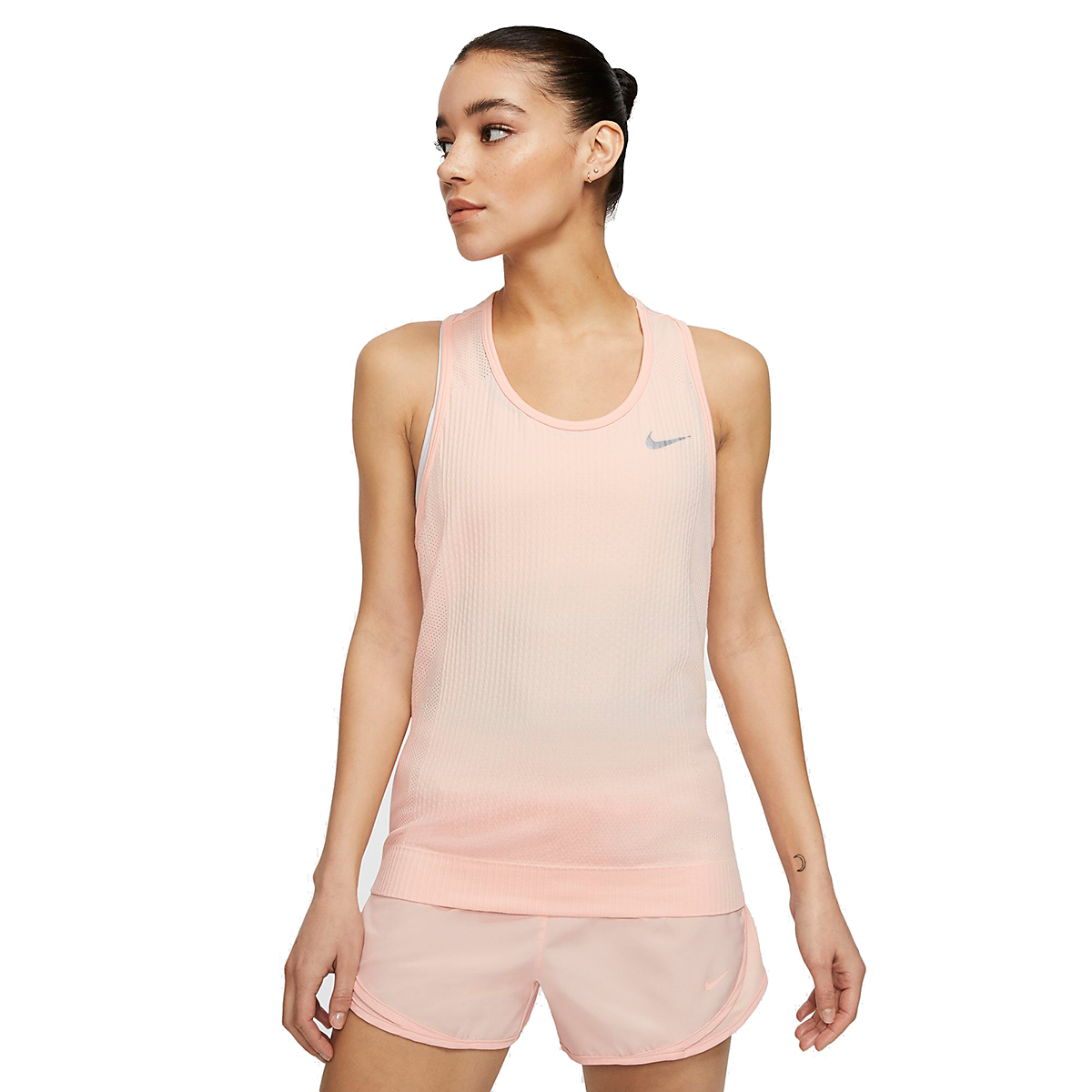 Women's Nike Infinite Running Tank - Color: Washed Coral - Size: XS, Washed Coral, large, image 1