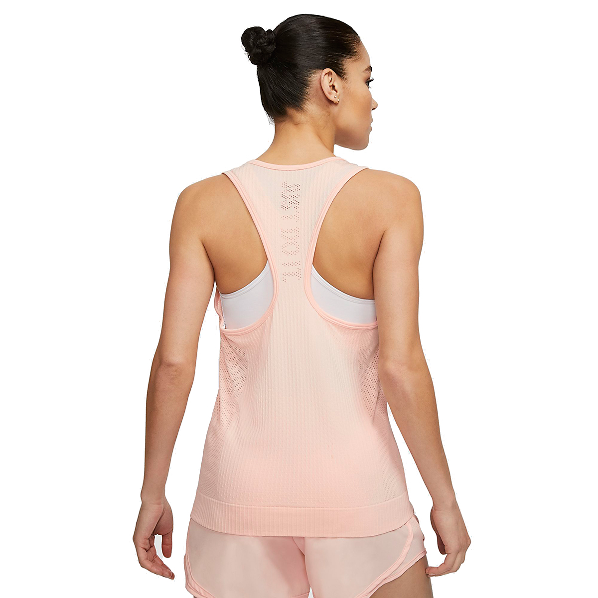 Women's Nike Infinite Running Tank - Color: Washed Coral - Size: XS, Washed Coral, large, image 2