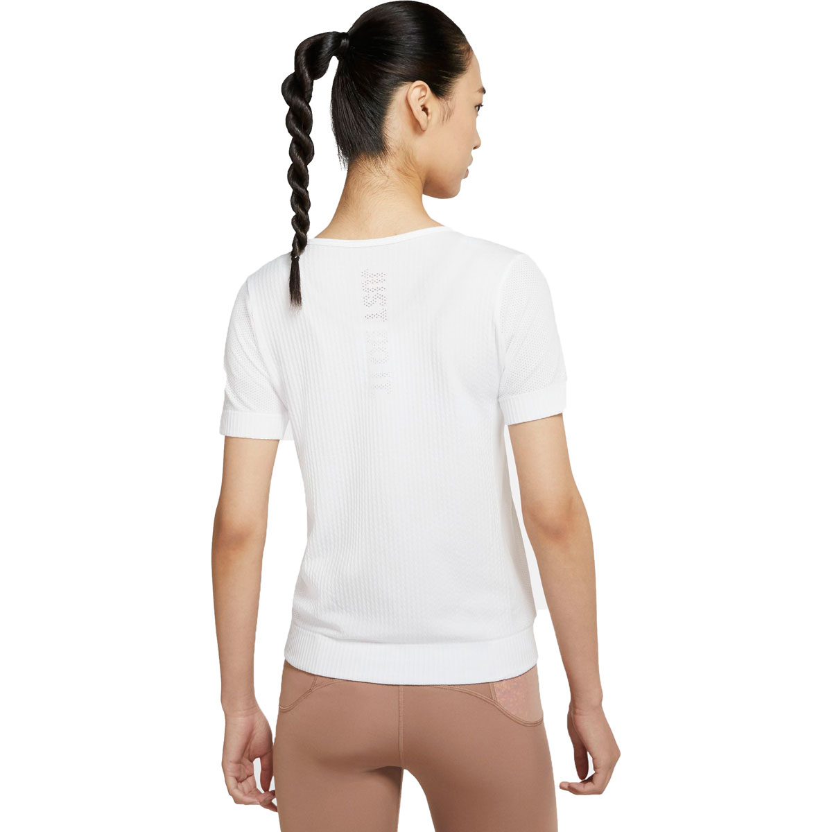 Women's Nike Infinite Short-Sleeve Running Top - Color: White/Reflective Silver - Size: XS, White/Reflective Silver, large, image 2