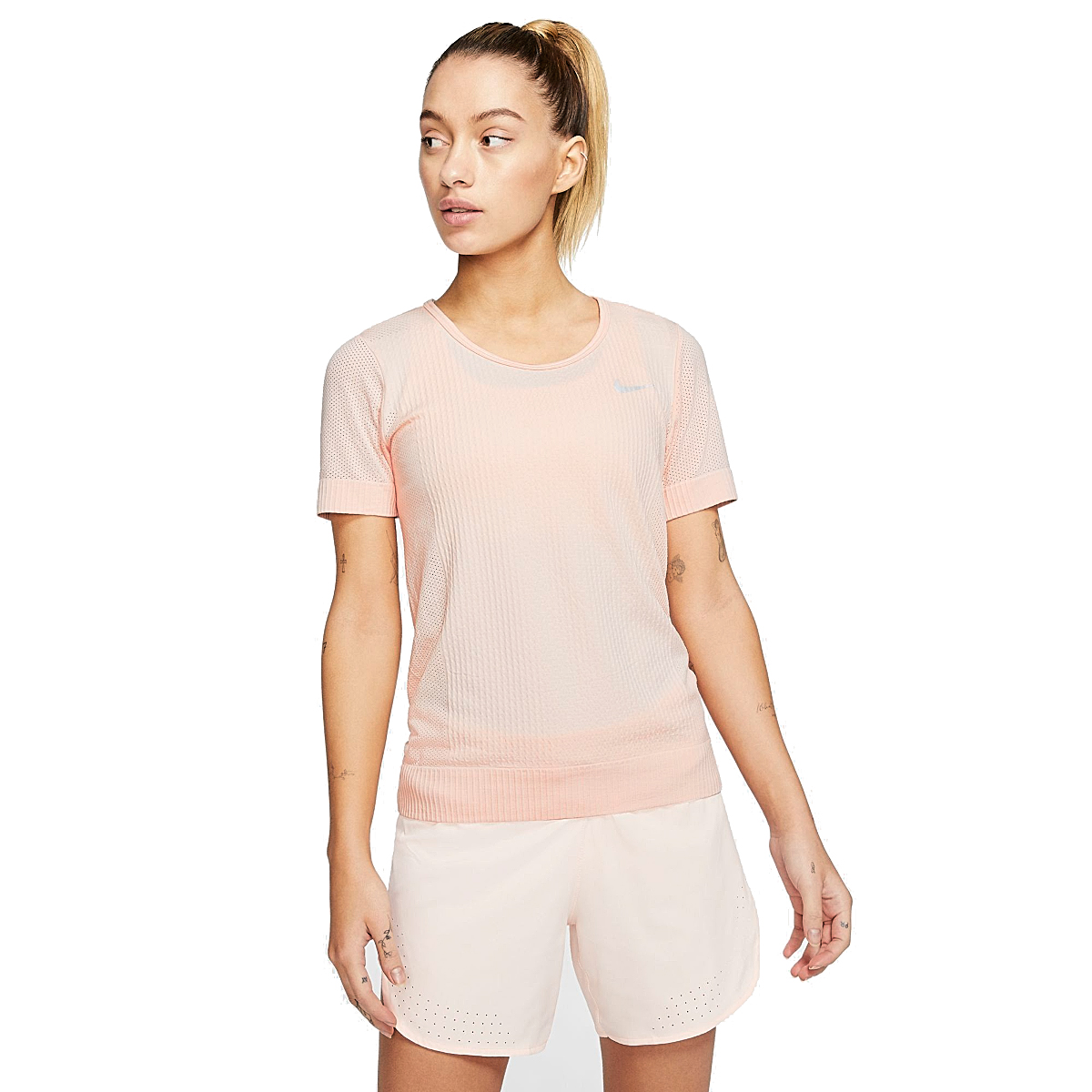 Women's Nike Infinite Short-Sleeve - Color: Washed Coral - Size: XS, Washed Coral, large, image 1