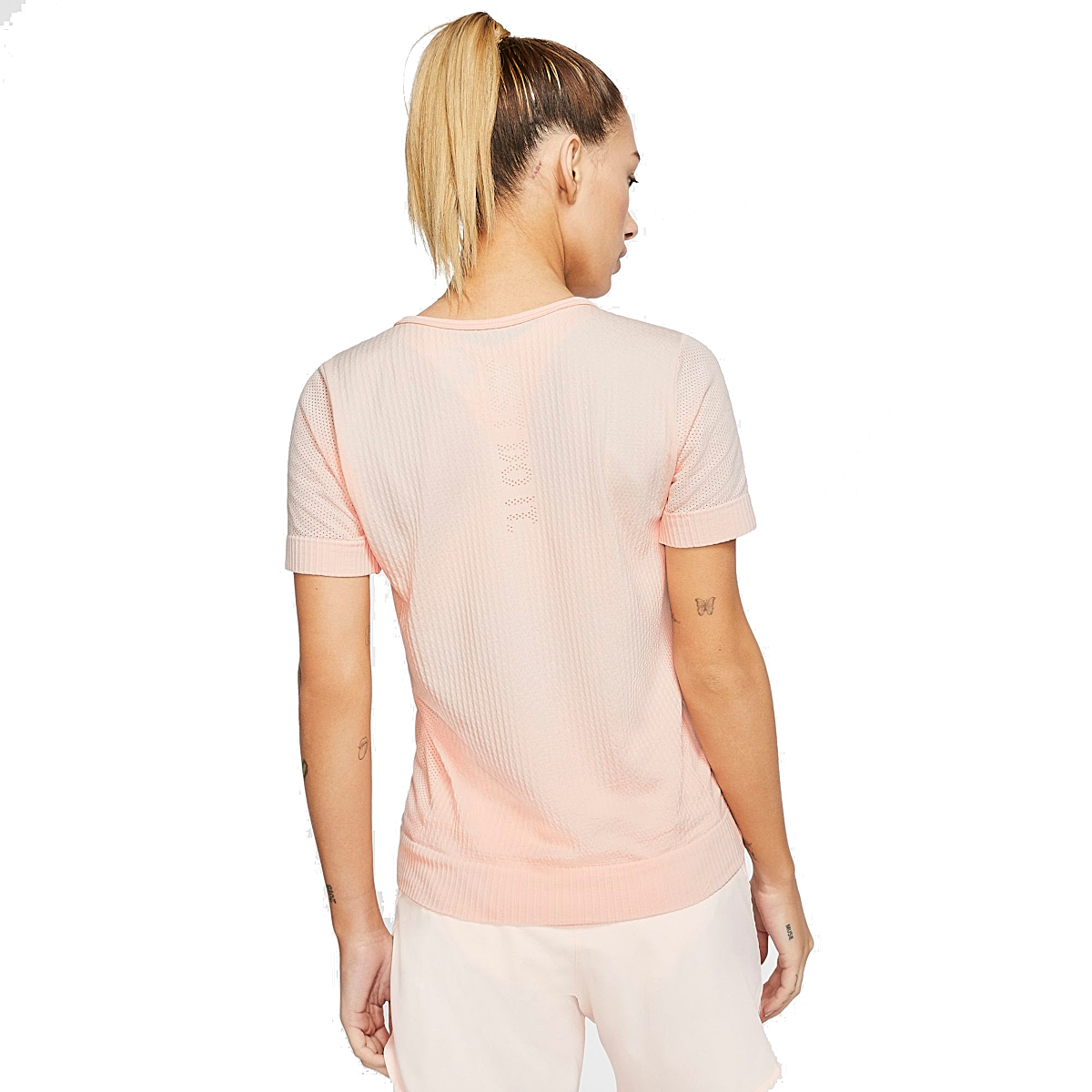 Women's Nike Infinite Short-Sleeve - Color: Washed Coral - Size: XS, Washed Coral, large, image 2