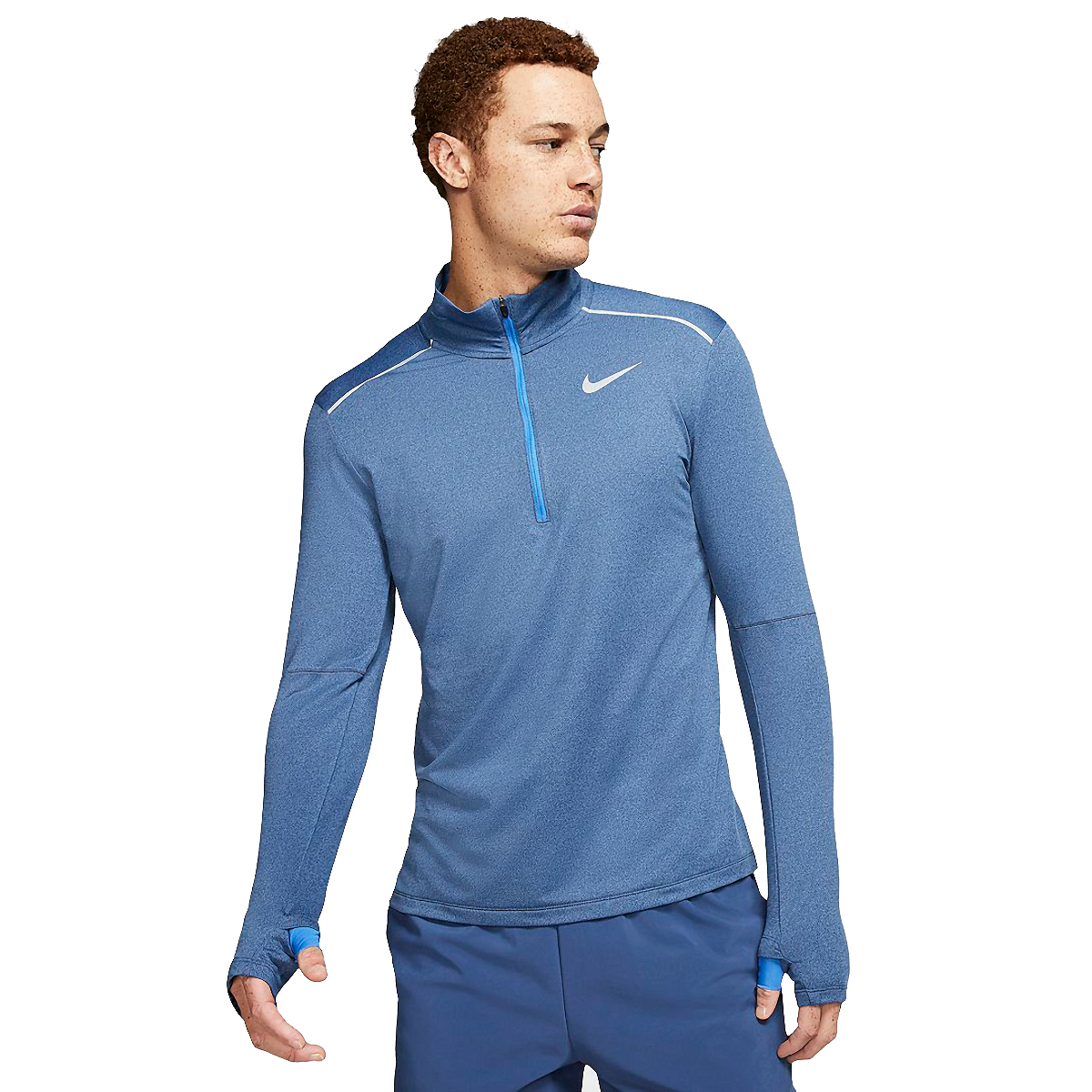 Men's Nike Element Half Zip 3.0 - Color: Obsidian/Heather - Size: XS, Obsidian/Heather, large, image 1