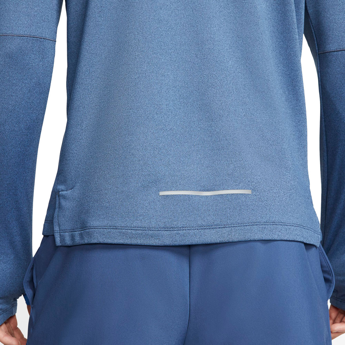 Men's Nike Element 3.0 1/2-Zip Running Top - Color: Obsidian/Htr/Reflective Silver - Size: S, Obsidian/Heather/Reflective Silver, large, image 4
