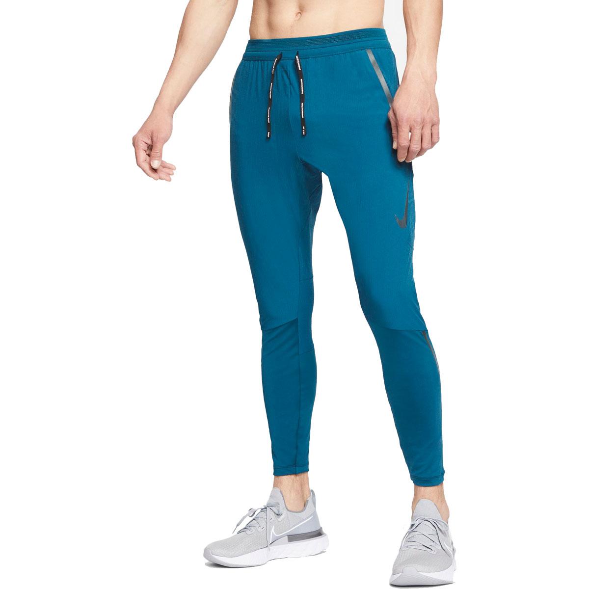 Men's Nike Swift Running Pants - Color: Valerian Blue/Reflect Black - Size: S, Valerian Blue/Reflect Black, large, image 1