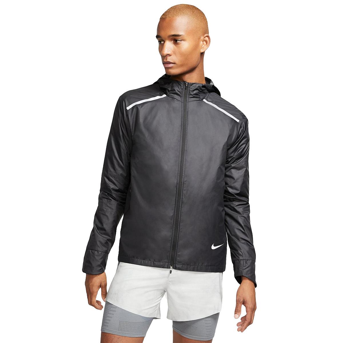Men's Nike Essential Jacket  - Color: Black/Reflective - Size: S, Black/Reflective, large, image 1
