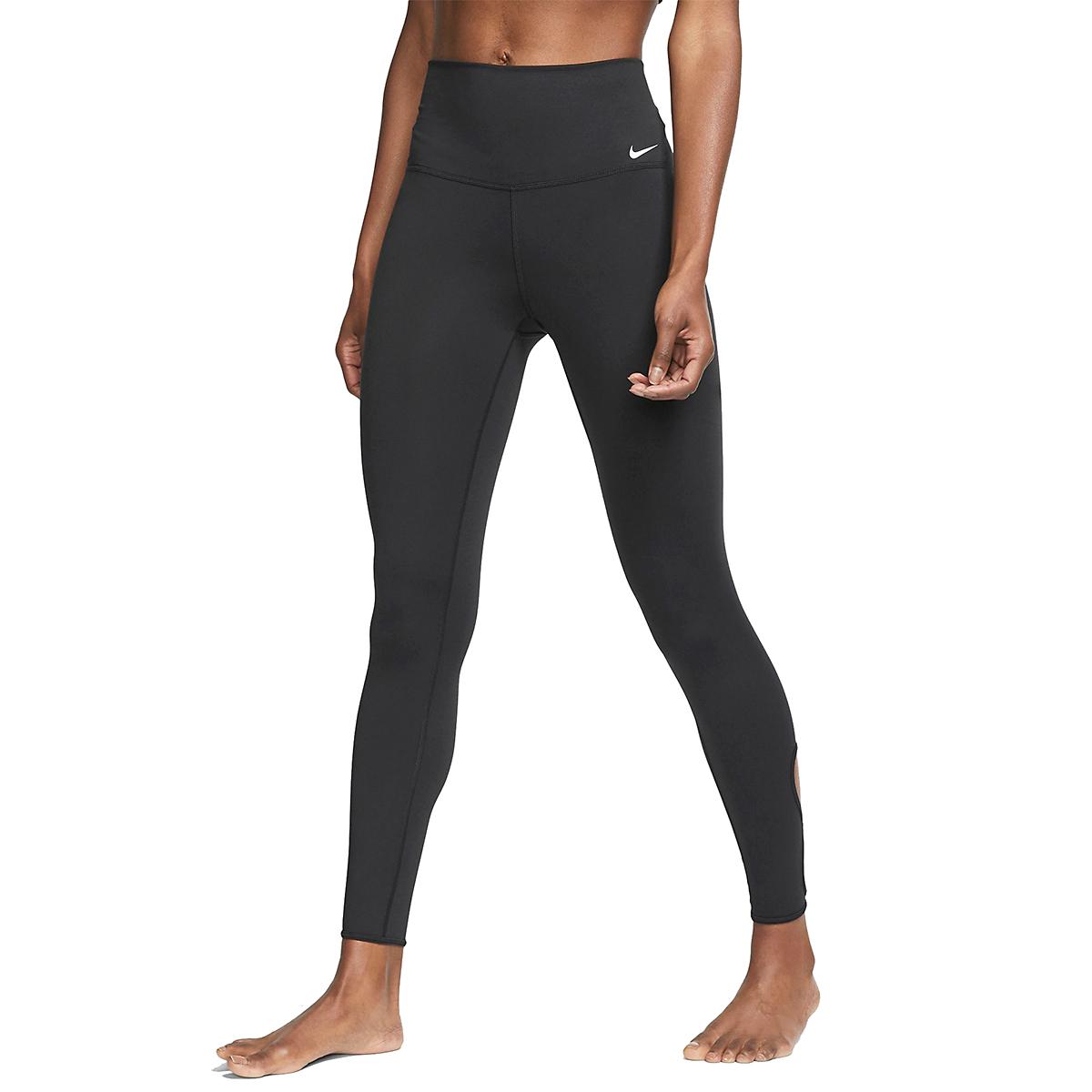 Women's Nike 7/8 Yoga Tight  - Color: Black/White - Size: XL, Black/White, large, image 1