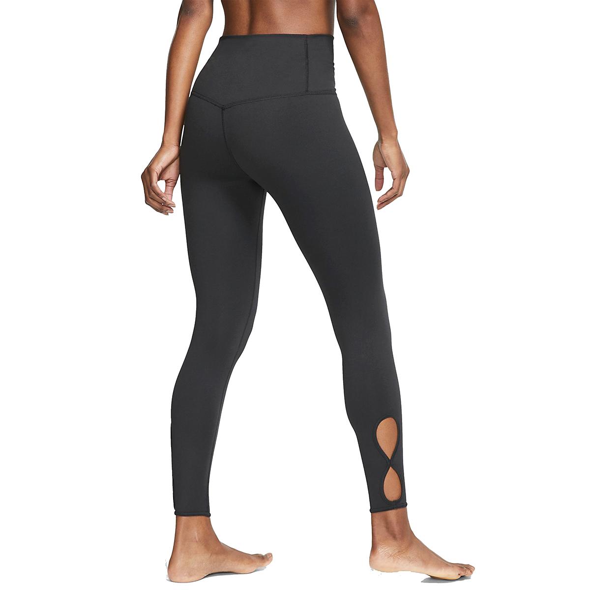 Women's Nike 7/8 Yoga Tight  - Color: Black/White - Size: XL, Black/White, large, image 2