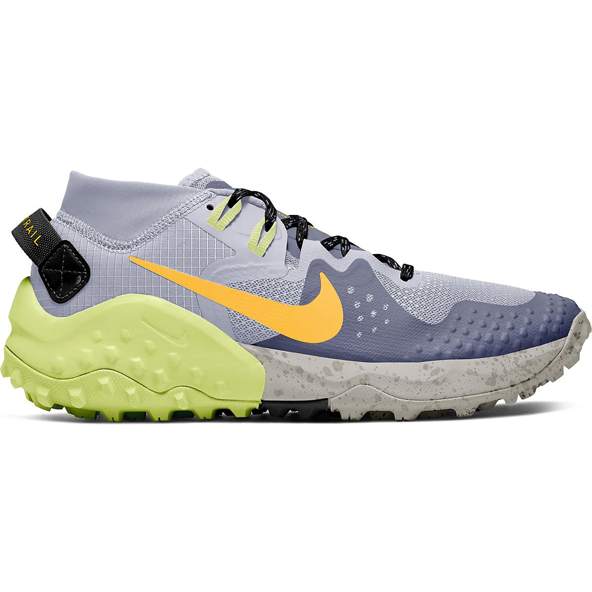 Women's Nike Wildhorse 6 Trail Running Shoe - Color: World Indigo/Laser Orange-Ghost - Size: 5 - Width: Regular, World Indigo/Laser Orange-Ghost, large, image 1