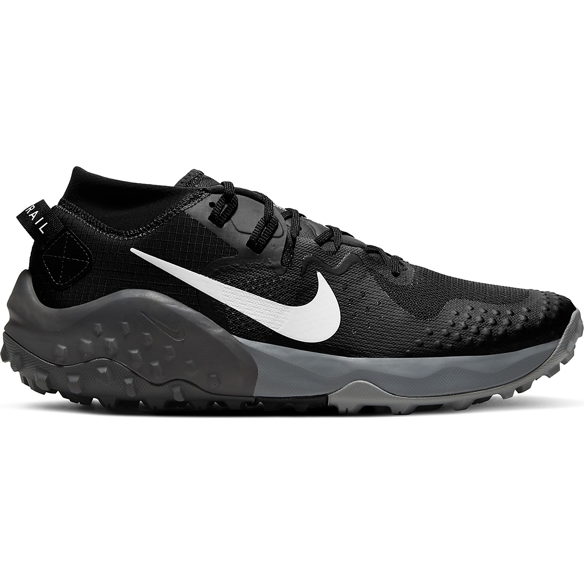 Men's Nike Wildhorse 6 Trail Running Shoe - Color: Off Noir/Spruce Aura-Black-Iron Grey - Size: 6 - Width: Regular, Off Noir/Spruce Aura-Black-Iron Grey, large, image 1