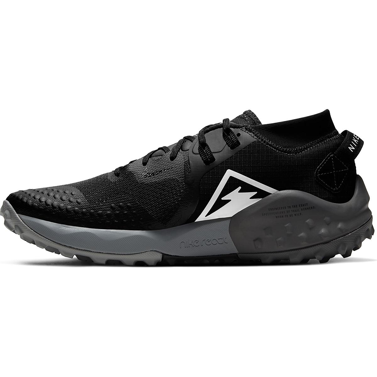 Men's Nike Wildhorse 6 Trail Running Shoe - Color: Off Noir/Spruce Aura-Black-Iron Grey - Size: 6 - Width: Regular, Off Noir/Spruce Aura-Black-Iron Grey, large, image 2