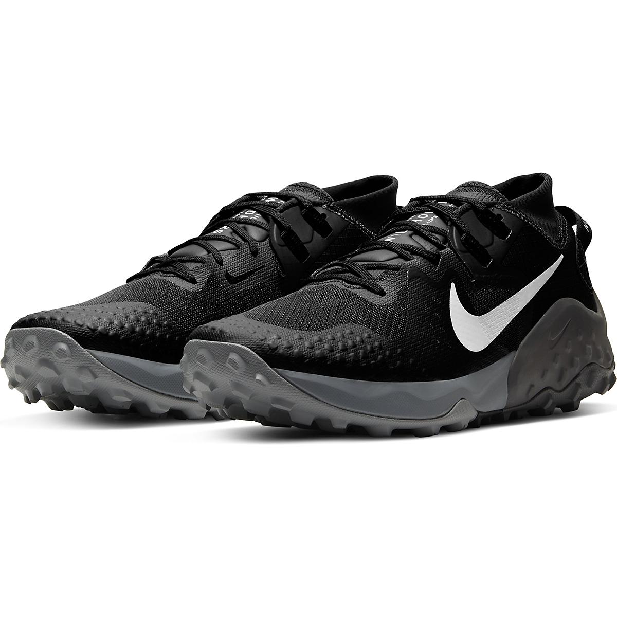 Men's Nike Wildhorse 6 Trail Running Shoe - Color: Off Noir/Spruce Aura-Black-Iron Grey - Size: 6 - Width: Regular, Off Noir/Spruce Aura-Black-Iron Grey, large, image 3