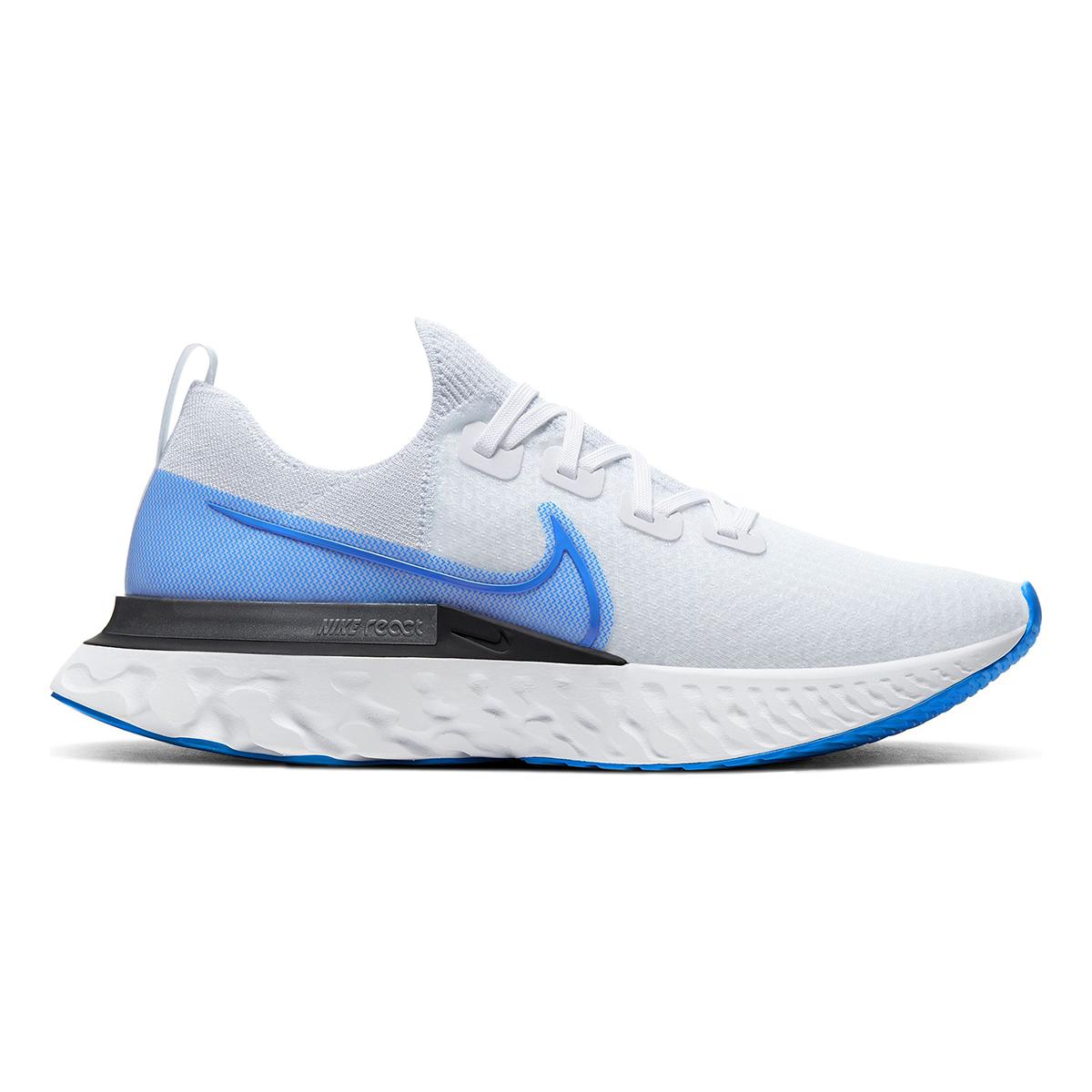 Men's Nike React Infinity Run Flyknit Running Shoe - Color: True White/White/Pure (Regular Width) - Size: 6, True White/White/Pure, large, image 1