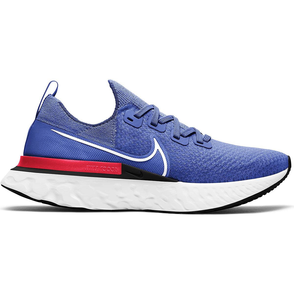 Men's Nike Nike React Infinity Run Flyknit Running Shoe - Color: Racer Blue/White-Bright Crimson-Black - Size: 6.5 - Width: Regular, Racer Blue/White-Bright Crimson-Black, large, image 1