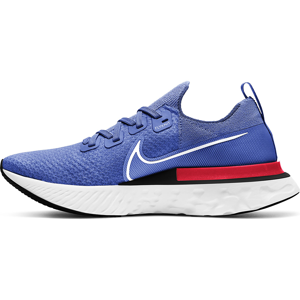 Men's Nike Nike React Infinity Run Flyknit Running Shoe - Color: Racer Blue/White-Bright Crimson-Black - Size: 6.5 - Width: Regular, Racer Blue/White-Bright Crimson-Black, large, image 2