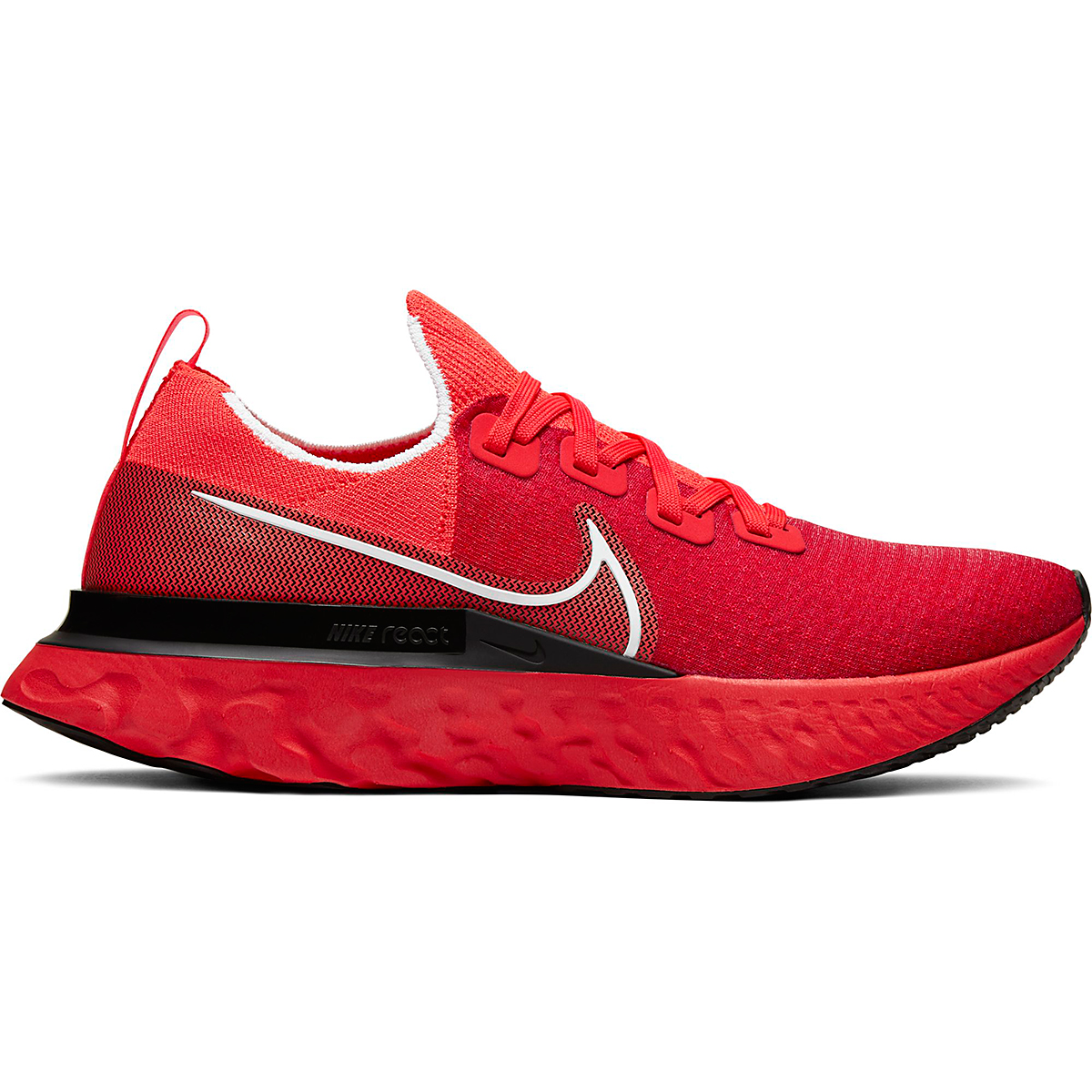 Men's Nike React Infinity Run Flyknit Running Shoe - Color: Bright Crimson - Size: 6 - Width: Regular, Bright Crimson, large, image 1