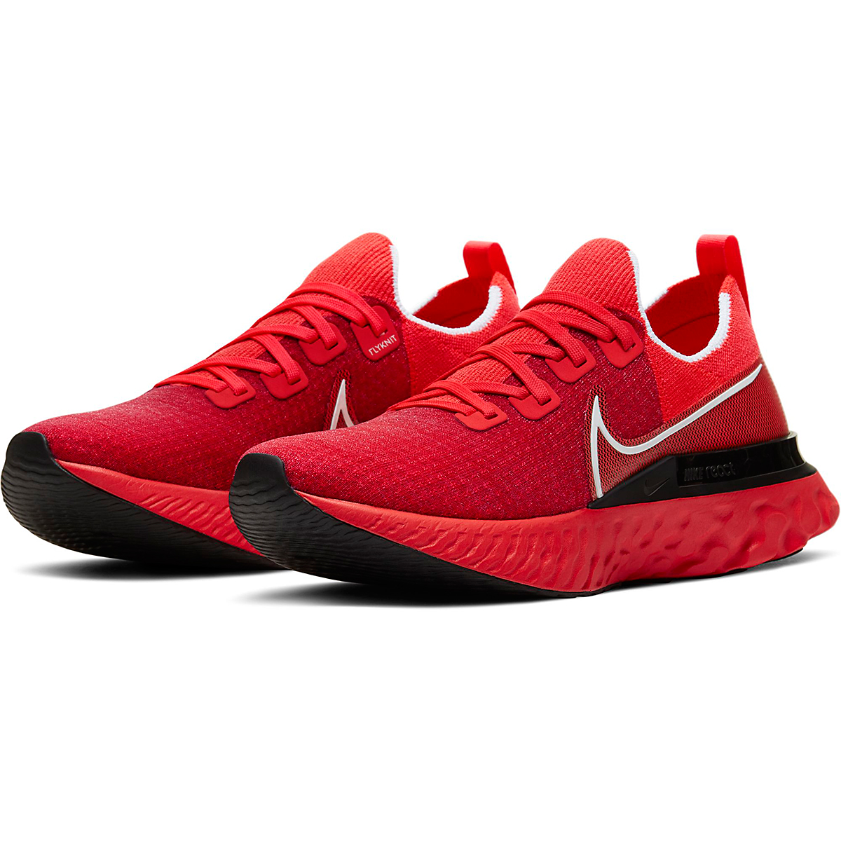 Men's Nike React Infinity Run Flyknit Running Shoe - Color: Bright Crimson - Size: 6 - Width: Regular, Bright Crimson, large, image 4