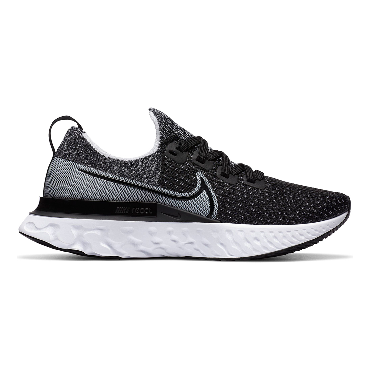 Women's Nike React Infinity Run Flyknit Running Shoe - Color: Black/White/White - Size: 5 - Width: Regular, Black/White/White, large, image 1