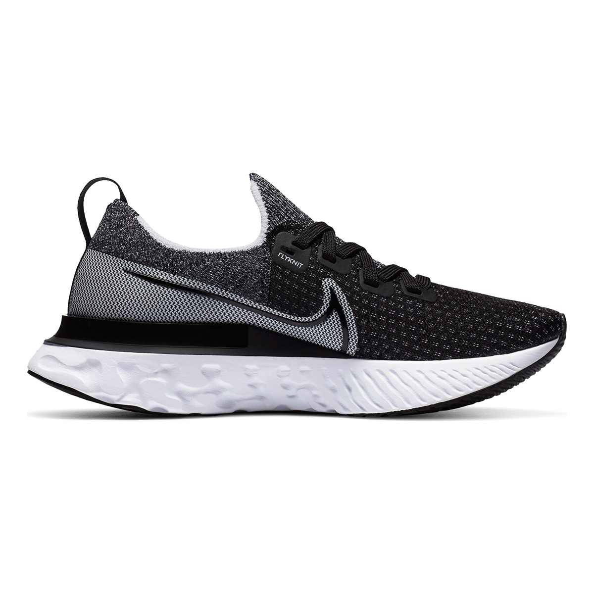 Women's Nike React Infinity Run Flyknit Running Shoe - Color: Black/White/White - Size: 5 - Width: Regular, Black/White/White, large, image 2