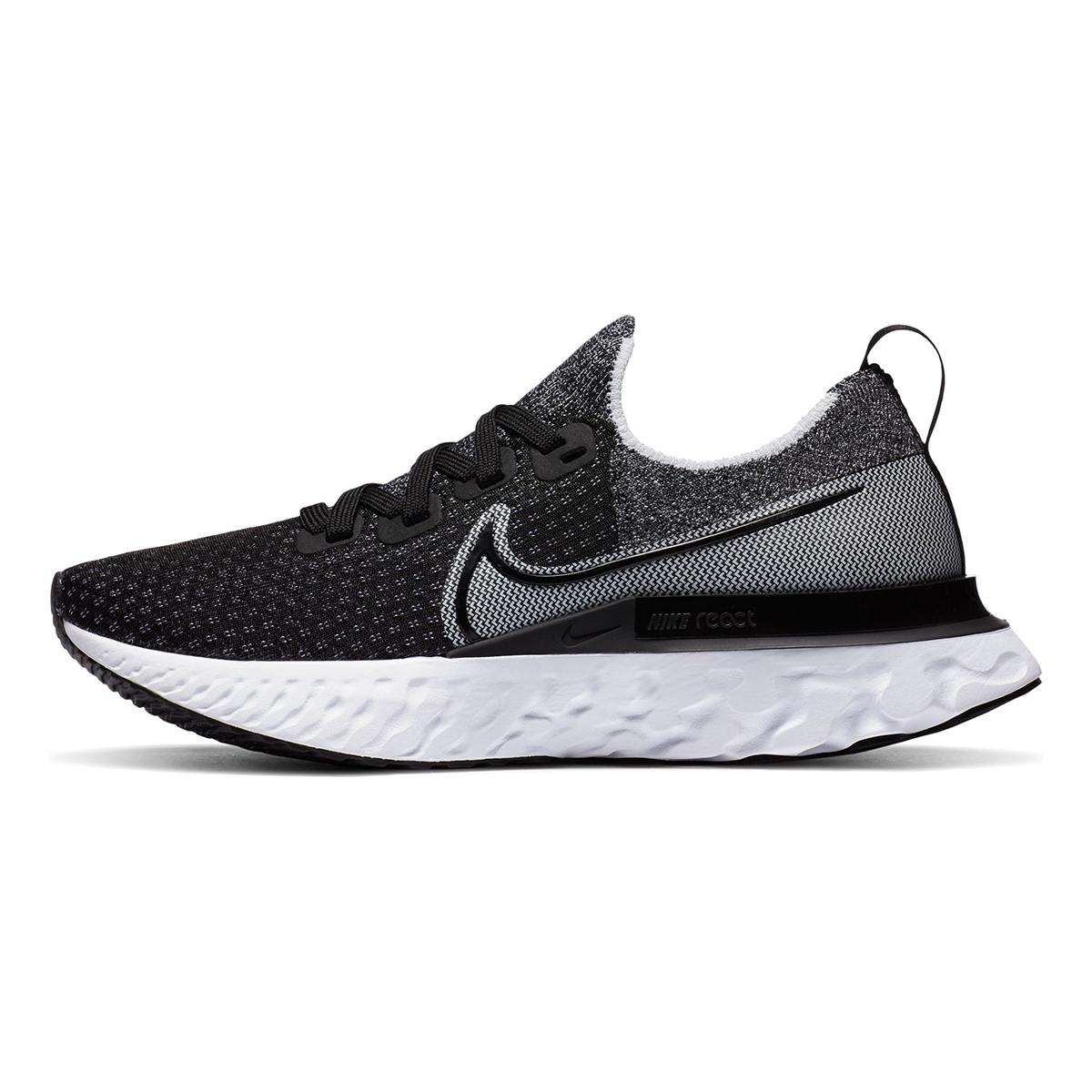 Women's Nike React Infinity Run Flyknit Running Shoe - Color: Black/White/White - Size: 5 - Width: Regular, Black/White/White, large, image 3